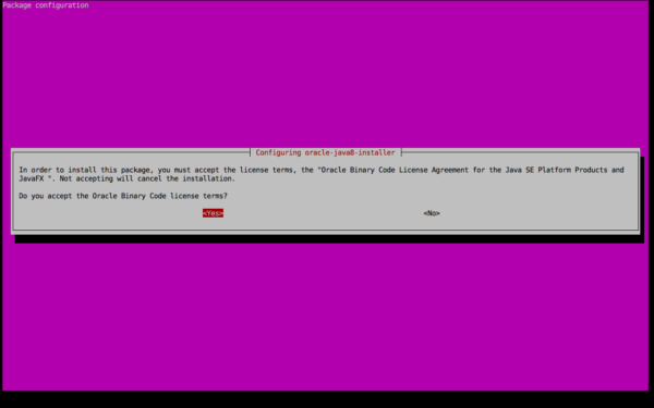License Terms Agreement JDK 8 Ubuntu 14.04