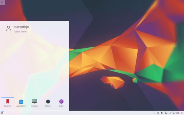 Desktop Kubuntu Linux 16.04