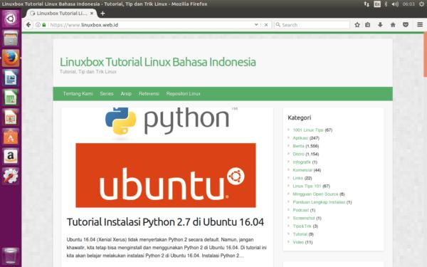 Firefox di Ubuntu Linux 16.04