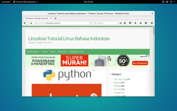 Desktop Ubuntu GNOME 16.04