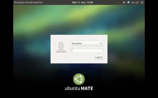 Prompt Login Ubuntu MATE 16.04