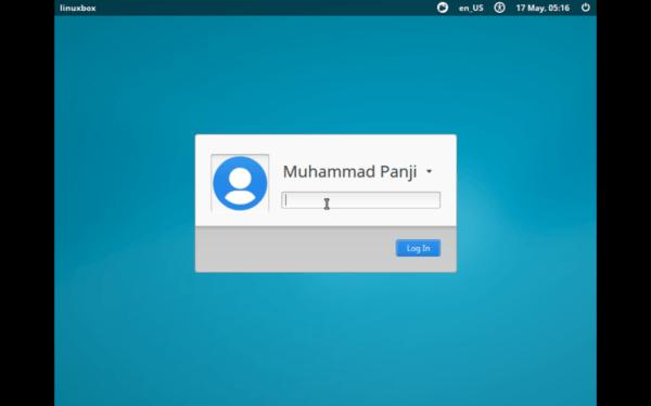 Halaman Login Xubuntu Linux 16.04